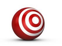 Obiettivo rosso della sfera Fotografia Stock