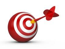 Obiettivo rosso della sfera con la freccia del dardo Immagini Stock
