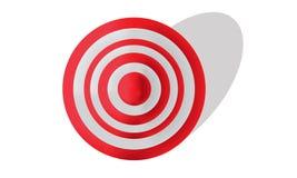 Obiettivo rosso e bianco Fotografia Stock