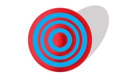 Obiettivo rosso e blu Immagini Stock