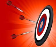 Obiettivo su priorità bassa rossa Fotografie Stock Libere da Diritti