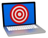 Obiettivo su uno schermo Fotografia Stock Libera da Diritti