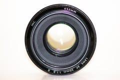 Obiettivo utilizzata della lente della foto della macchina fotografica vecchio e, obiettivo isolato immagine stock libera da diritti