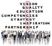 Obiettivo Victory Strategy Vision Concept di scopo di successo Immagine Stock Libera da Diritti