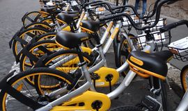 Obike bicycles sharing Royalty Free Stock Images