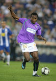 Obinna in action. Nigerian player Obinna of Malaga CF in action during a match against Espanyol at the Estadi Cornella-El Prat on September 24, 2009 in Barcelona Royalty Free Stock Images