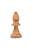 Obispo blanco Isolated del ajedrez en el fondo blanco Imagenes de archivo