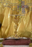 Obispo durante la comunión santa foto de archivo