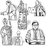 Obispo Set Imagenes de archivo