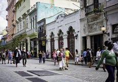 Obispo Street, Havana, Cuba Royalty Free Stock Photo
