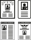 Obituary Royalty Free Stock Image