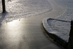 objętych footpath lodu Obraz Royalty Free