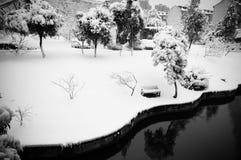 objętych krajobrazu śnieg Zdjęcia Royalty Free