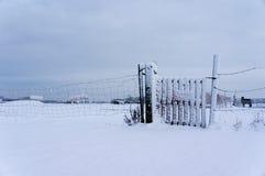 objętych płotu śnieg Zdjęcia Stock