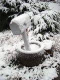 objętych skrzynki śnieg Obraz Royalty Free