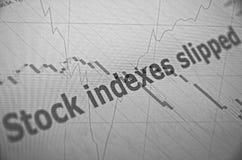 objętych rynku Obrazy Stock