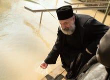 Objawienia Pańskiego świętowanie przy jordanem ku pamięci baptis Obraz Royalty Free