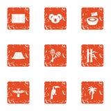 Objawienie ikony ustawiać, grunge styl royalty ilustracja