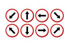 objazdy wskazówkę czerwonych stopu wstążek ostro znak ruchu drewna Obrazy Stock