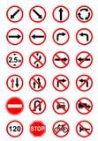 objazdy wskazówkę czerwonych stopu wstążek ostro znak ruchu drewna Obraz Royalty Free