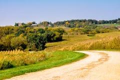Objeżdżać Iowas wiejskie drogi fotografia stock