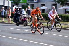 Objeżdża De Pologne 2015 drogowej rowerowej rasy, Warszawa Obraz Royalty Free