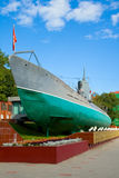 Legendary submarine. Museum open-air with a legendary submarine Royalty Free Stock Photography