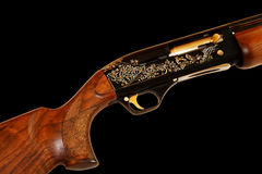Rifle. The trigger mechanism of a fowling piece Stock Images