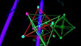 The object abstraction of geometric shapes. The object abstraction of geometric shapes neon stock video footage