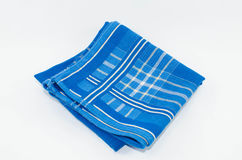 A Object of Blue Scott Handkerchief . A Object of Blue Scott Handkerchief  on white background Stock Photography