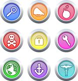 Object buttons Stock Photo