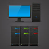Object computer monitor server Stock Photos
