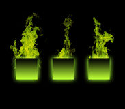 Object on fire. 3d render of object on fire Stock Image