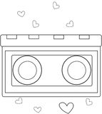 Object with hearts coloring page Royalty Free Stock Image