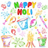 Object for Holi festival Royalty Free Stock Images