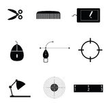 Object icon black vector royalty free illustration
