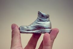 Free Object In The Form Of A Boot Printed On A 3d Printer And Covered With Enamel Royalty Free Stock Photos - 115457658