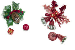 Object,isolate,chistmas. Christmas decoration on white background isolate Stock Photography