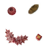 Object,isolate,chistmas. Christmas decoration on white background isolate Royalty Free Stock Photo
