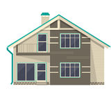 Object isolated cottage. Flat design. Royalty Free Stock Images