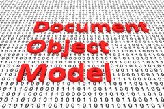 Object model del documento Immagine Stock Libera da Diritti