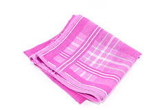 A object of Pink Scott Handkerchief . A object of Pink Scott Handkerchief  on white background Royalty Free Stock Images