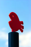 Object of plastic red fish Stock Photo