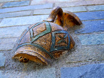 Object pottery 1. View of a pot, entrapped in a wall royalty free stock photography