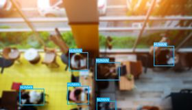 Object recognition by machine learning concept or deep learning stock photo