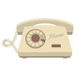 Object retro telephone, old rotary phone Stock Photography