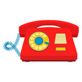 Object retro telephone, old rotary phone Royalty Free Stock Photo