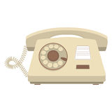 Object retro telephone, old rotary phone Royalty Free Stock Photos