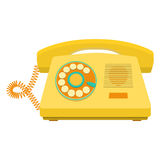 Object retro telephone, old rotary phone Royalty Free Stock Image