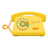 Object retro telephone, old rotary phone Royalty Free Stock Images